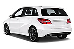 Car pictures of rear three quarter view of a 2018 Mercedes Benz B Class Base 5 Door Hatchback angular rear