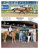 Barbara winning at Delaware Park on 10/25/12