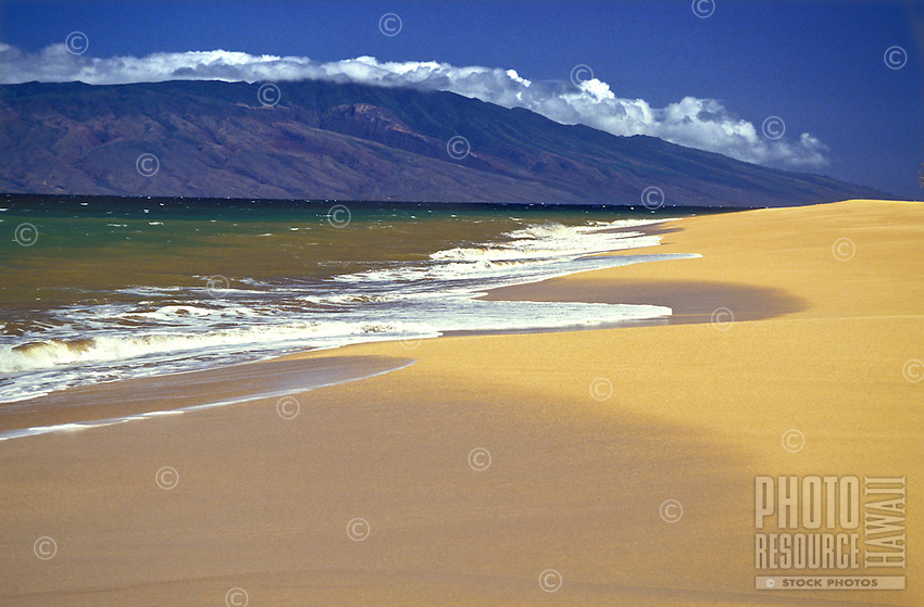 Polihua Beach on Lanai with the Island of Molokai in the distance