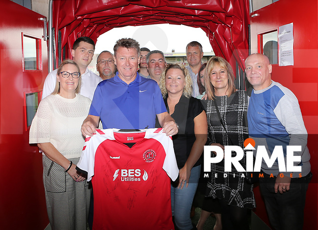 Fleetwood Town Shirt Sponsors ahead of the Sky Bet League 1 match between Fleetwood Town and Rochdale at Highbury Stadium, Fleetwood, England on 18 August 2018. Photo by Stephen Gaunt / PRiME Media Images.