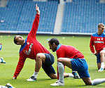 Lee Wallace at training