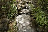 USA, Oregon, Ashland, the Lithia River runs through Lithia Park in the Fall