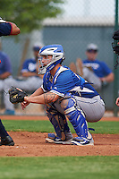 Los Angeles Dodgers Jake Henson (68) during an instructional league game against the Cleveland Indians on October 15, 2015 at the Goodyear Ballpark Complex in Goodyear, Arizona.  (Mike Janes/Four Seam Images)