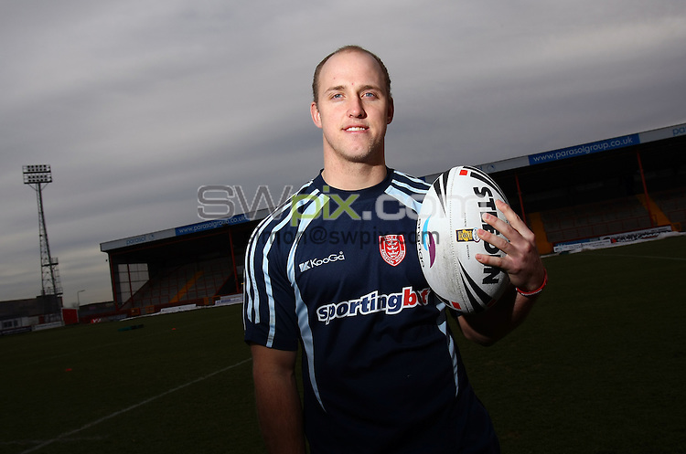 PICTURE BY VAUGHN RIDLEY/SWPIX.COM...Rugby League - Super League - Hull KR Media Day, Team Group & Headshots - Craven Park, Hull, England - 03/02/11...Hull KR's Michael Dobson.