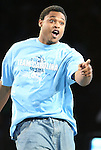 """13 October 2006: UNC's William Graves. The University of North Carolina at Chapel Hill Tarheels held their first Men's and Women's basketball practices of the season as part of """"Late Night with Roy Williams"""" at the Dean E. Smith Center in Chapel Hill, North Carolina."""