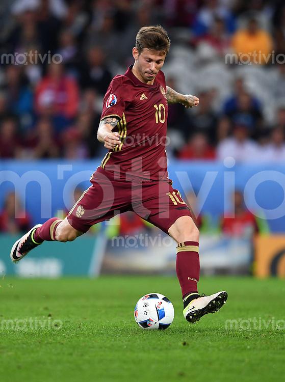FUSSBALL EURO 2016 GRUPPE B IN LILLE Russland - Slowakei     15.06.2016 Fedor Smolov (Russland)