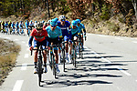 The peleton in action during Stage 6 running 198km from Sisteron to Vence, France. 9th March 2018.<br /> Picture: ASO/Alex Broadway | Cyclefile<br /> <br /> <br /> All photos usage must carry mandatory copyright credit (&copy; Cyclefile | ASO/Alex Broadway)