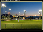 "Evening baseball at Stazio Ballfield. From John's 4th book: ""Boulder, Colorado: A Photographic Portrait.""<br />