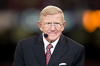 ESPN College Game Day's Lou Holtz is pictured during 77th Annual Allstate Sugar Bowl Classic at Louisiana Superdome in New Orleans, Louisiana on January 4th, 2011.  Ohio State defeated Arkansas, 31-26.