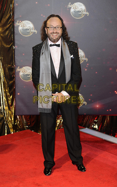 Dave Myers<br /> The red carpet launch for 'Strictly Come Dancing' at Elstree Studios, Borehamwood, England.<br /> September 3rd, 2013<br /> full length black pink shirt grey gray scarf beard facial hair glasses hairy bikers<br /> CAP/FIN<br /> &copy;Steve Finn/Capital Pictures
