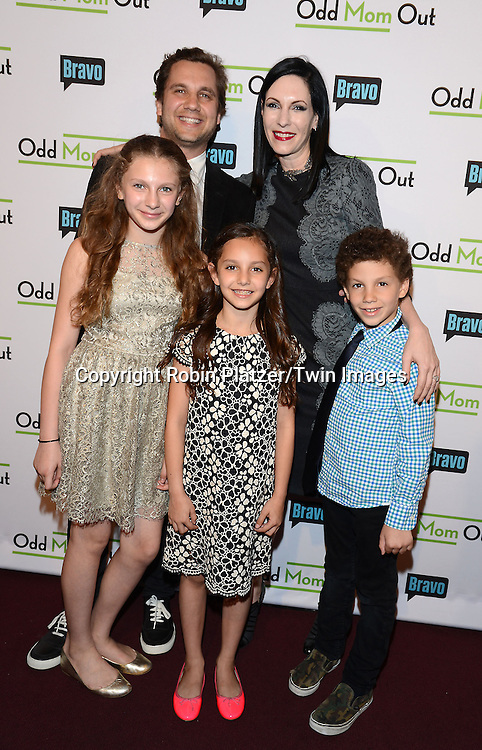 Jill Kargman and family attends the &quot;Odd Mom Out&quot; Screening, which is Bravo's first scripted half-hour comedy from Jill Kargman,  on June 3, 2015 at Florence Gould Hall in New York City, New York, USA.<br /> <br /> photo by Robin Platzer/Twin Images<br />  <br /> phone number 212-935-0770