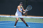 Christina Rosca of the Vanderbilt Commodores during the match at #3 doubles against the Stanford Cardinal during the finals of the 2018 NCAA Women's Tennis Championship at the Wake Forest Tennis Center on May 22, 2018 in Winston-Salem, North Carolina. The Cardinal defeated the Commodores 4-3. (Brian Westerholt/Sports On Film)