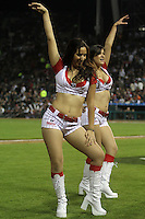 HERMOSILLO, Son. February 1, 2013. Cheerleaders during the game of the Caribbean series of Baseball Hermosillo 2013 between Puerto Rico and Mexico held at the Sonora Stadium. /Chicas Tecate, Tkt,  Porristas durante el juego de la Serie del Caribe de Beisbol, Hermosillo 2013 entre Puerto Rico y México celebrado en el Estadio Sonora. FOTOS:GermanQuintana