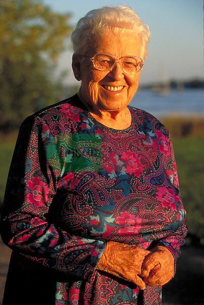 portrait of elder woman smiling