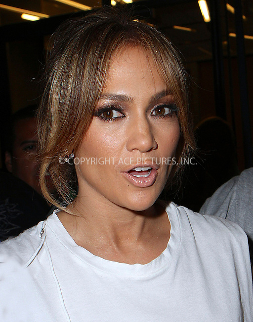ACEPIXS.COM<br /> <br /> <br /> June 18 2014, New York City<br /> <br /> Jennifer Lopez arrives at an office building in Soho on June 18 2014 in New York City<br /> <br /> By Line: Nancy Rivera/ACE Pictures<br /> <br /> ACE Pictures, Inc.<br /> www.acepixs.com<br /> Email: info@acepixs.com<br /> Tel: 646 769 0430
