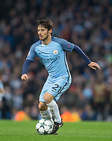 David Silva of Manchester City during the UEFA Champions League match between Manchester City and Barcelona at the Etihad Stadium, Manchester, England on 1 November 2016. Photo by Andy Rowland / PRiME Media Images.