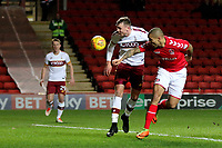 Josh MaGennis of Charlton heads the ball towards the Bradford City goal during Charlton Athletic vs Bradford City, Sky Bet EFL League 1 Football at The Valley on 13th February 2018