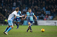 Luke O'Nien of Wycombe Wanderers during the The Checkatrade Trophy - EFL Trophy Semi Final match between Coventry City and Wycombe Wanderers at the Ricoh Arena, Coventry, England on 7 February 2017. Photo by Andy Rowland.