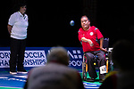 Yuk Wing Leung (HKG)<br /> BC4 Bronze Medal Match<br /> Germany v Hong Kong<br /> BISFed 2018 World Boccia Championships <br /> Exhibition Centre Liverpool<br /> 18.08.18<br /> &copy;Steve Pope<br /> Sportingwales