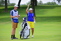 Angela Stanford (USA) prepares to hit her approach shot on 9 during round 2 of  the Volunteers of America Texas Shootout Presented by JTBC, at the Las Colinas Country Club in Irving, Texas, USA. 4/28/2017.<br /> Picture: Golffile | Ken Murray<br /> <br /> <br /> All photo usage must carry mandatory copyright credit (&copy; Golffile | Ken Murray)
