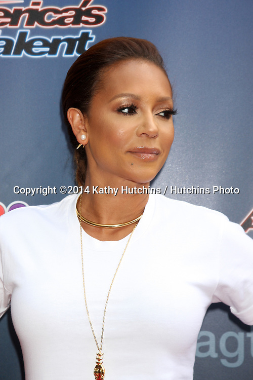 "LOS ANGELES - APR 22:  Mel Brown, aka Mel B at the ""America's Got Talent"" Los Angeles Auditions Arrivals at Dolby Theater on April 22, 2014 in Los Angeles, CA"