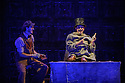 London, UK. 07.10.2015. English Touring Opera presents THE TALES OF HOFFMANN, at the Britten Theatre, Royal College of Music. Written by Jacques Offenbach, with libretto by Jules Barbier, this production is directed by James Bonas. Picture shows: Matt R J Ward, Adam Tunnicliffe. Photograph © Jane Hobson.