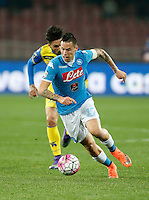 Marek Hamsik  during the  italian serie a soccer match,between SSC Napoli and Chievo Verona      at  the San  Paolo   stadium in Naples  Italy , March 05, 2016<br /> Napoli won  3 - 1