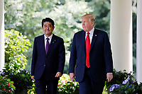 JUN 07 President Donald Trump meets with Prime Minister of Japan Shinzo Abe