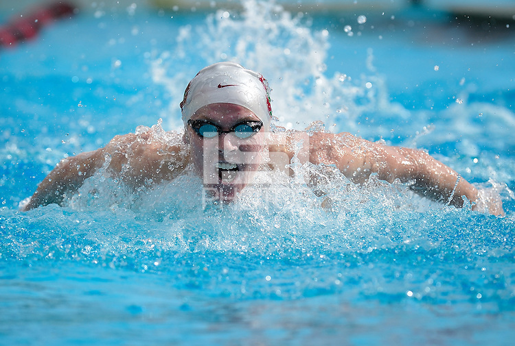 STANFORD, CA - FEBRUARY 5: Scott Korotkin of Stanford men's swimming competes against USC on February 5, 2011 at Avery Aquatic Center in Stanford, California.  Stanford beat USC, 162-116.