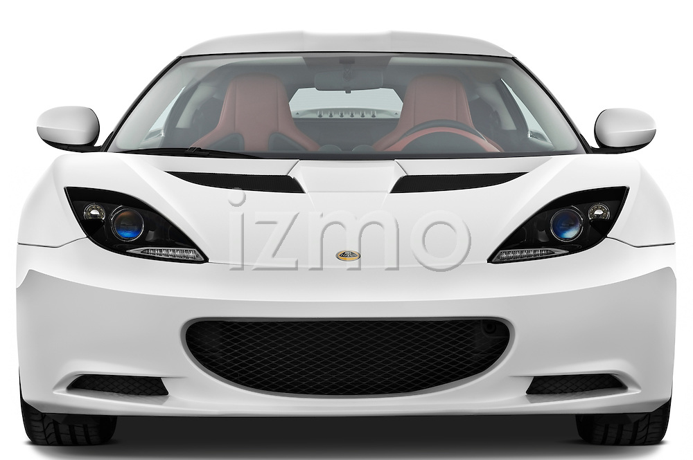 Straight front view of a 2009 Lotus Evora 2 Door Coupe