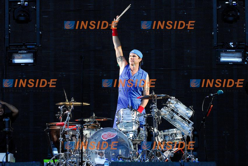 Chad Smith.Parigi 30/06/2012 Concerto dei Red Hot Chili Peppers allo Stadio di Francia..Photo Federico Pestellini /Panramic/Insidefoto.ITALY ONLY.