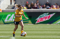 Sandy, UT - Saturday April 14, 2018: Lo'eau LaBonta during a regular season National Women's Soccer League (NWSL) match between the Utah Royals FC and the Chicago Red Stars at Rio Tinto Stadium.