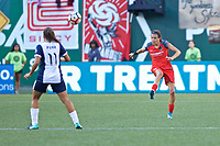 Portland, OR - Saturday July 22, 2017: Emily Menges during a regular season National Women's Soccer League (NWSL) match between the Portland Thorns FC and the Washington Spirit at Providence Park.