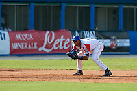 27 September 2009: Yulieski Gourriel of Cuba is seen on defense at third base during the 2009 Baseball World Cup gold medal game won 10-5 by Team USA over Cuba, in Nettuno, Italy.