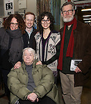 Rebecca Taichman, Elizabeth Ireland McCann, Cody Lassen, Adina Verson and Tom Nelis with Cast of acclaimed Broadway-bound play 'Indecent' meet their Off-Broadway counterparts in 'God of Vengeance' at La Mama on January 10, 2017 in New York City.