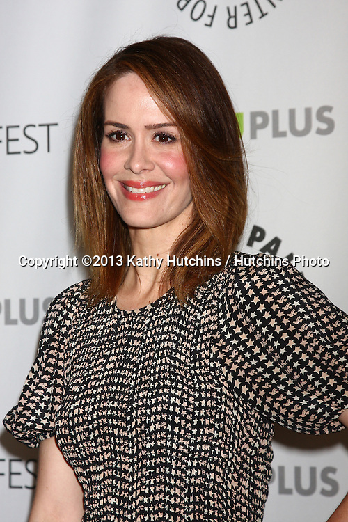 """LOS ANGELES - MAR 15:  Sarah Paulson arrives at the  """"An American Horror Story"""" PaleyFEST Event at the Saban Theater on March 15, 2013 in Los Angeles, CA"""