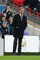 Jurgen Klopp (Manager) of Liverpool during the Capital One Cup match between Liverpool and Manchester City at Wembley Stadium, London, England on 28 February 2016. Photo by David Horn / PRiME Media Images.