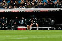 Real Madrid's Gareth Bale injured during La Liga match between Real Madrid and Valencia CF at Santiago Bernabeu Stadium in Madrid, Spain. December 01, 2018. (ALTERPHOTOS/A. Perez Meca) /NortePhoto NORTEPHOTOMEXICO