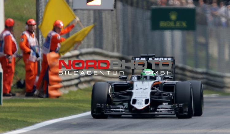 02.09.-04.09.2016, Autodromo Nationale, Monza, ITA, F1, Grosser Preis von Italien, Monza,  Race 14, im Bild <br /> Niko H&uuml;lkenberg (GER#27), Sahara Force India Formula One Team<br /> <br /> <br /> Foto &copy; nordphoto / Bratic