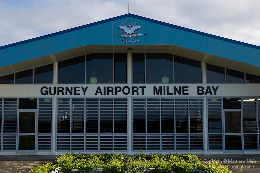Alotau, Milne Bay, Papua New Guinea; Gurney Airport Milne Bay, terminal building, airport named after Bob Gurney, RAAF pilot killed in action during World War II, May 2, 1942 , Copyright © Matthew Meier, matthewmeierphoto.com