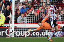 Chris Day of Stevenage sees a shot go wide. - Sheffield United v Stevenage - npower League 1 - Bramall Lane, Sheffield  - 28th April, 2012. © Kevin Coleman 2012
