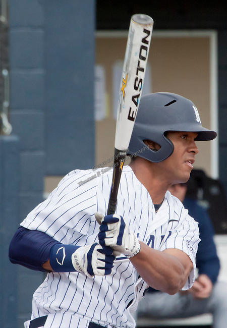 March 29, 2012:  Nevada Wolf Pack batter Jay Anderson against the BYU Cougars during their NCAA baseball game played at Peccole Park on Thursday afternoon in Reno, Nevada.