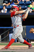 Williamsport Crosscutters catcher Cameron Rupp (50) during game against the Staten Island Yankees at Richmond County Bank Ballpark at St. George in Staten Island, NY August 08, 2010. Yankees won 6-3.  Photo By Tomasso DeRosa/ Four Seam Images