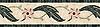 "11"" Elliott border, a hand-cut stone mosaic, shown in polished Botticino, Verdi Alpi, Verdi Luna, Desert Pink, Crema Valencia,and Red Lake."