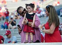 NWA Democrat-Gazette/CHARLIE KAIJO Arkansas Razorbacks fans wait for a football game, Saturday, September 7, 2019 at Vaught-Hemingway Stadium in Oxford, Miss.