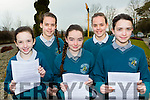 Emily Redington, Megan Kiely, Megan o'Donoghue, Cathy Kiely and Leah Kennedy who read out the proclamation at Holy Family Rathmore NS on Tuesday