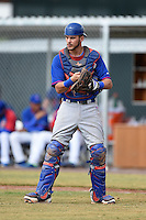Chicago Cubs catcher Tyler Alamo (8) during an Instructional League intersquad game on October 9, 2014 at Cubs Park Complex in Mesa, Arizona.  (Mike Janes/Four Seam Images)