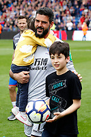 Julian Speroni of Crystal Palace and his 2 children during the EPL - Premier League match between Crystal Palace and West Bromwich Albion at Selhurst Park, London, England on 13 May 2018. Photo by Carlton Myrie / PRiME Media Images.