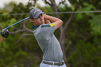 Matt Fitzpatrick (ENG) watches his tee shot on 2 during day 3 of the WGC Dell Match Play, at the Austin Country Club, Austin, Texas, USA. 3/29/2019.<br /> Picture: Golffile | Ken Murray<br /> <br /> <br /> All photo usage must carry mandatory copyright credit (© Golffile | Ken Murray)