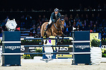 Jamie Kermond of Australia riding Yandoo Oaks Constellation competes in the Longines Grand Prix during the Longines Masters of Hong Kong at AsiaWorld-Expo on 11 February 2018, in Hong Kong, Hong Kong. Photo by Diego Gonzalez / Power Sport Images